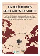 TTIP-Studie Ein gefährliches regulatorisches Duett Titelblatt