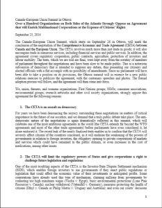 Positionspapier CETA