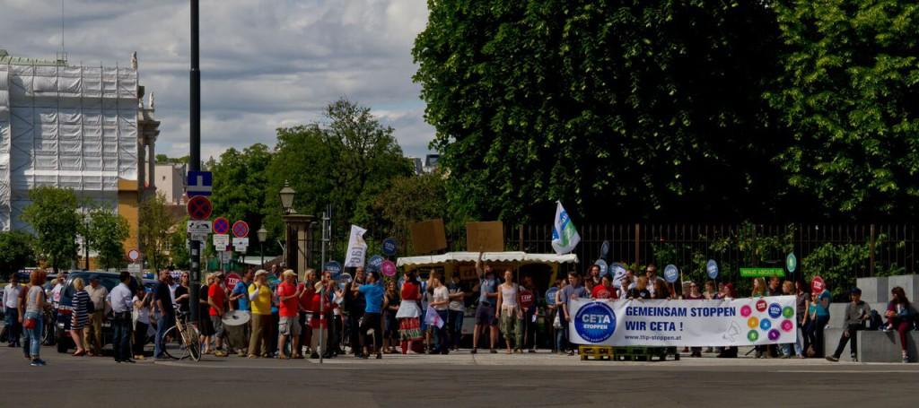 CETA Protest Ministerrat