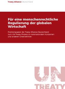 UN Treaty - Fuer eine menschenrechtliche Regulierung der globalen Wirtschaft
