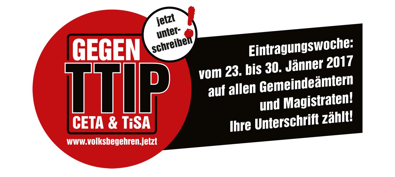Volksbegehren TTIP CETA TiSA